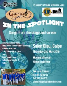 CAPRICE: In the Spotlight, Calpe @ Salon Blau