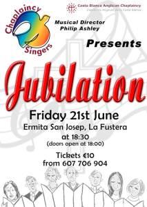 Chaplaincy Singers present Jubilation - Musical Director: Philip Ashley @ Ermita San Josep