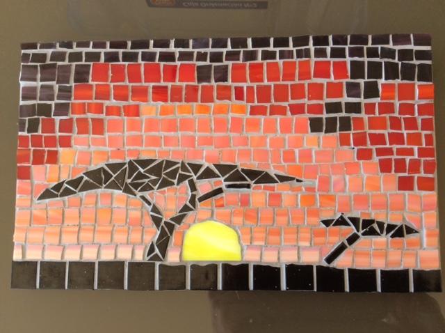 African sunset by Elizabeth
