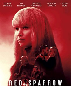 Film Monday 11th March: Red Sparrow @ Salon de Actos, la Senieta, Moraira