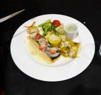 Salmon with Cava Sauce