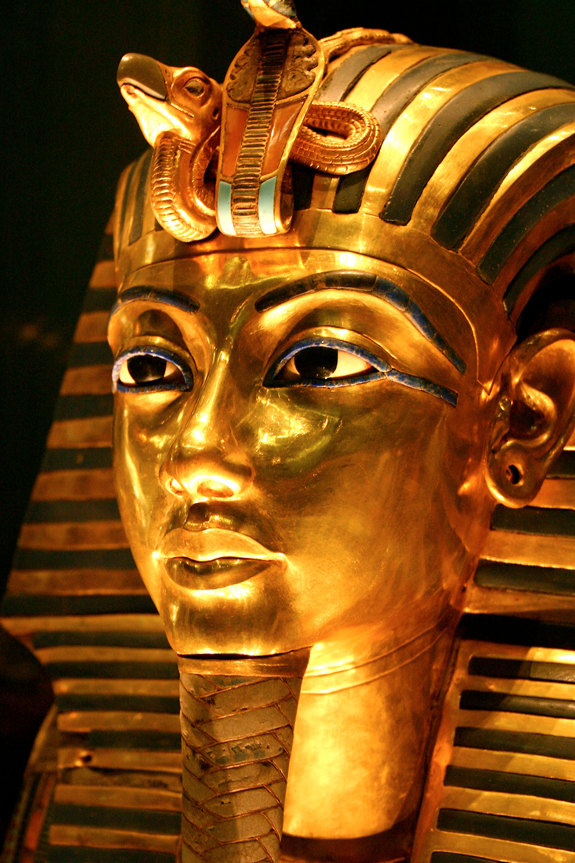 King Tutankhamun's golden funerary mask.