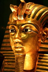 King Tutankhamun's golden funerary mask.