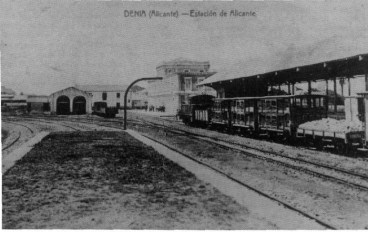 The train in Dénia, 1919