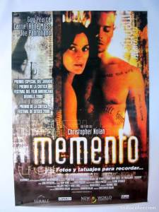 Film Group 25th Feb: Memento @ Salon de Actos, la Senieta, Moraira