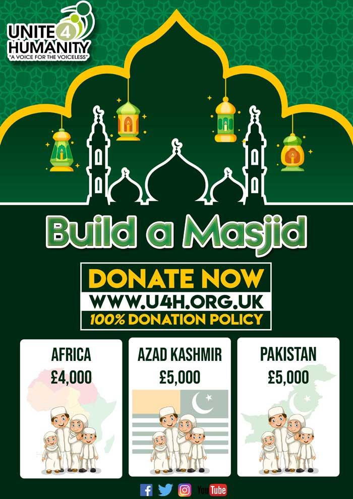 Build a Masjid  Leave an Islamic Legacy  100 Donation