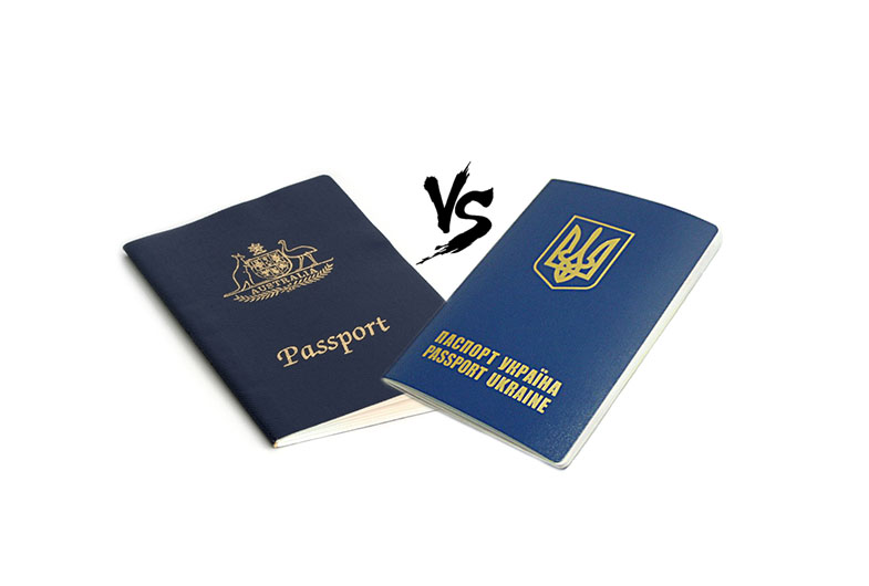 Получение визы в Украину и Австралию