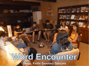 Word Encounter—Small Faith Sharing Groups