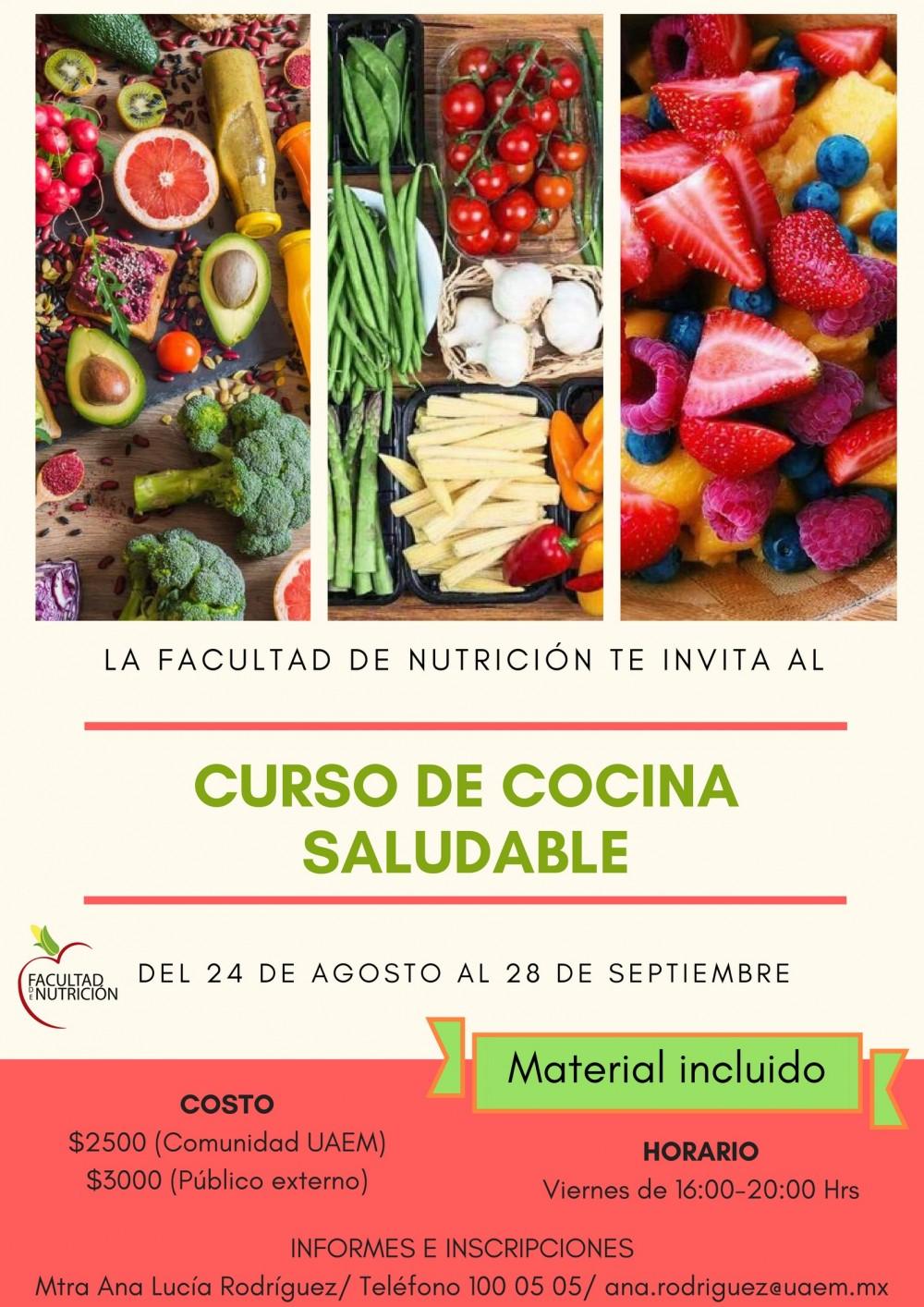 Curso de cocina saludable  Universidad Autnoma del