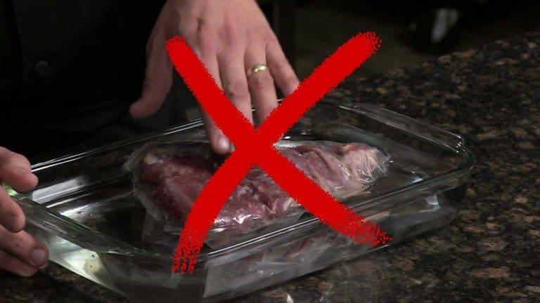 طرق تذويب اللحوم المجمدة