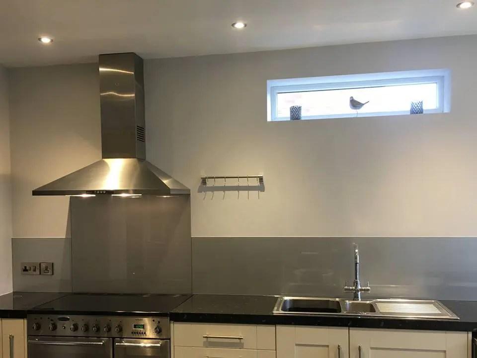 silver kitchen splashback norwich norfolk