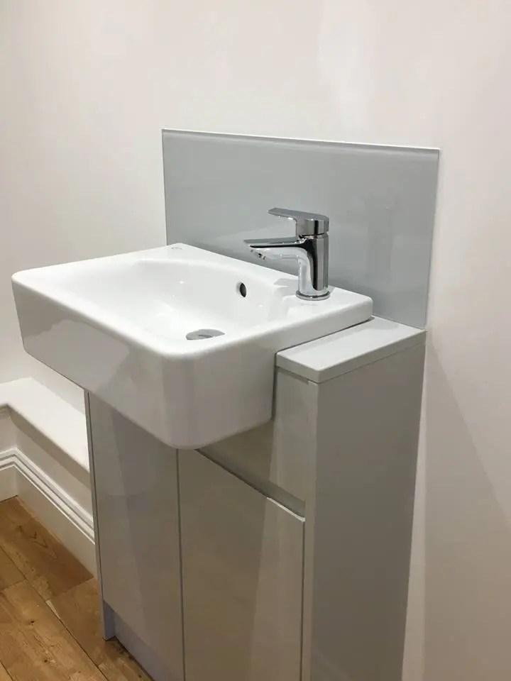 bathroom sink glass splashback uaglass