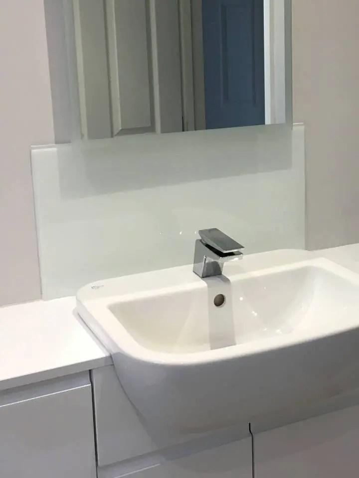 kitchen double sink and bath bathroom glass splashback uaglass norwich