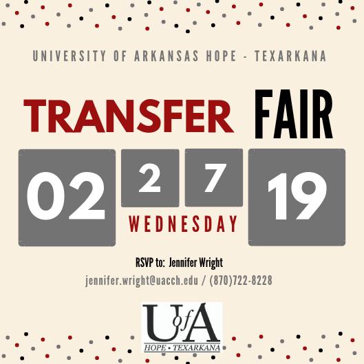 U of A Hope-Texarkana Transfer Fair