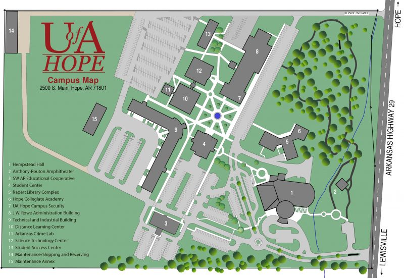 U of A Hope Campus Map