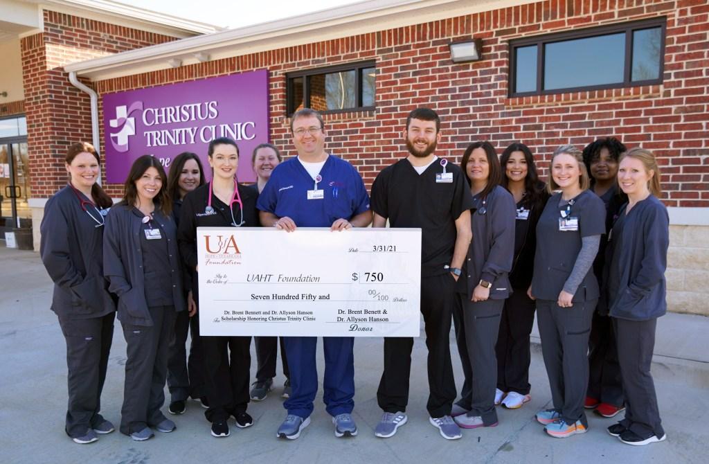 Dr. Brent Bennett and Dr. Allyson Hanson Scholarship Honoring Christus Trinity Clinic Established at UA Hope-Texarkana