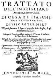 FIASCHI_TRATTATO_DEL_IMBRIGLIARE_1603