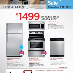 Frigidaire Kitchen Package Building Cabinets Featured Black Friday Special At Uakc Universal Appliance And