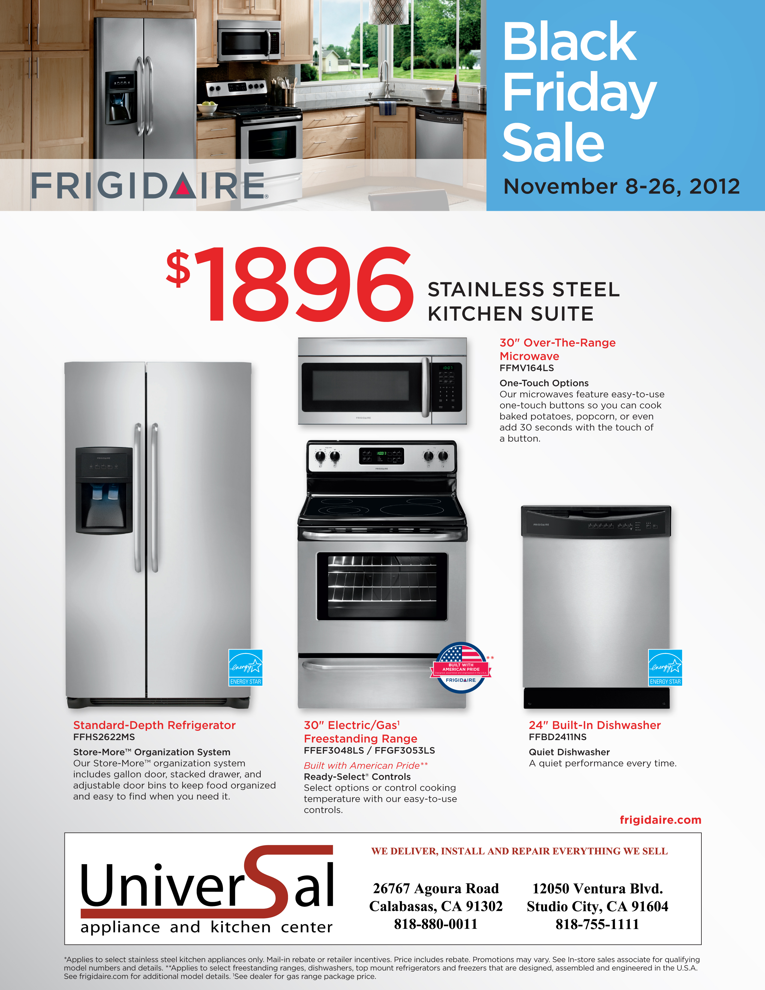 kitchen appliance suite european style cabinets black friday package specials universal and 1896