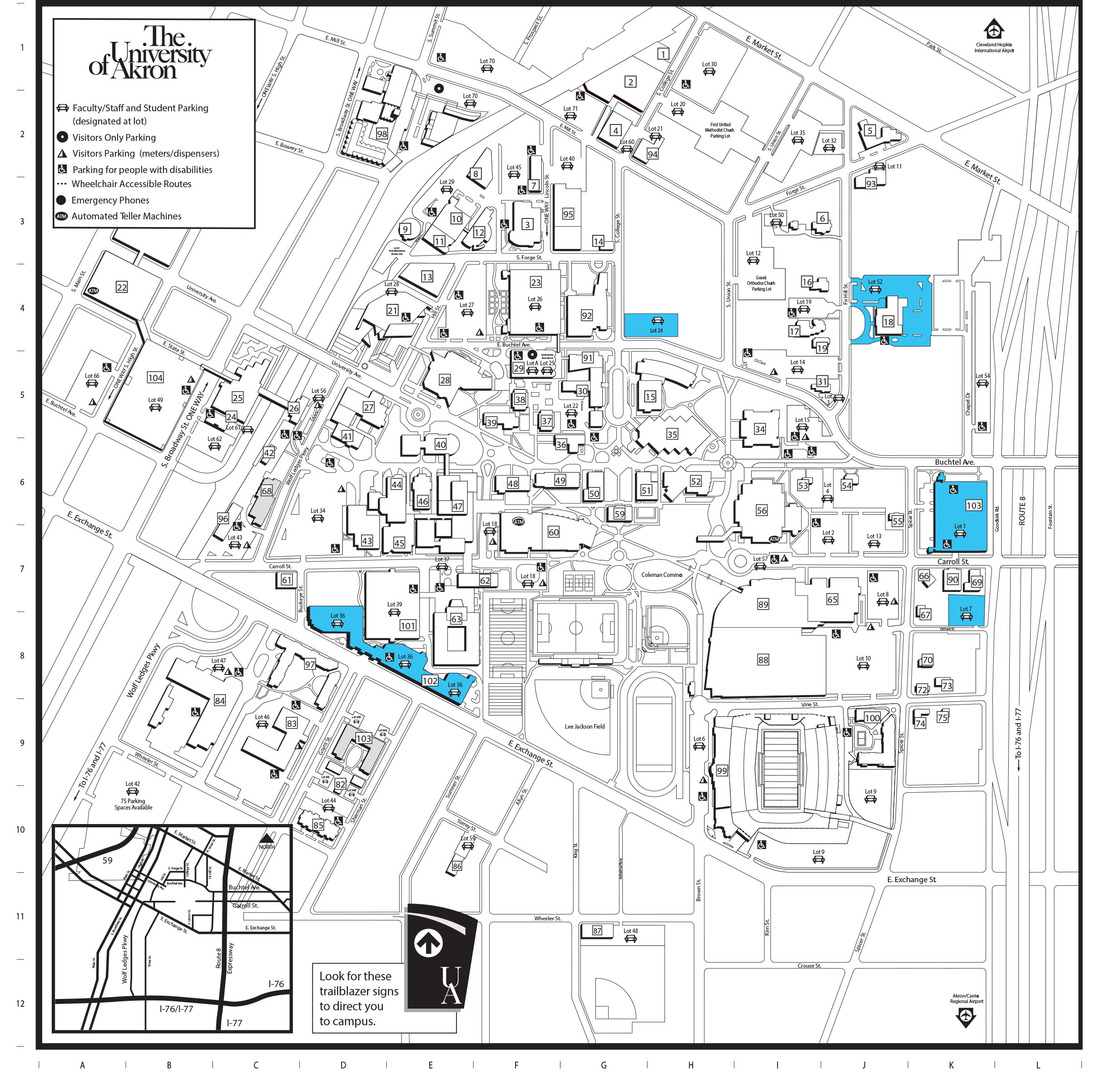 University Of Akron Campus Map