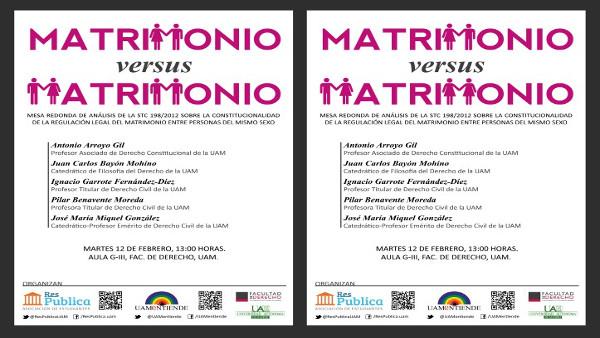 Cartel_Mesa redonda_Constitucionalidad de la regulación legal del Matrimonio igualitario