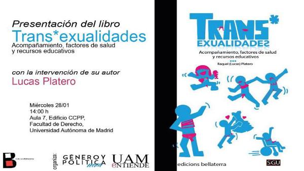 Cartel_Presentación del libro_Tran sexualidades Acompañamiento, factores de salud y recursos educativos