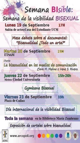 Semana Bisible semana de la visibilidad bisexual Arcopoli
