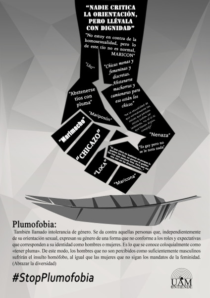 Cartel Plumofobia