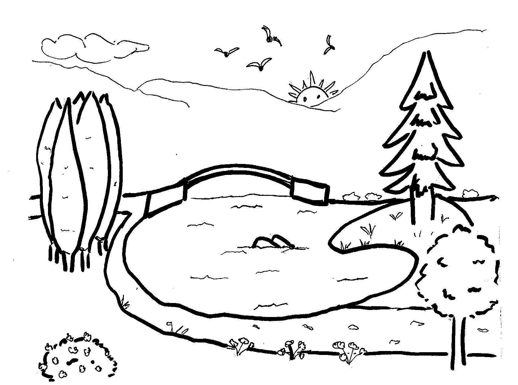 disegnidacolorarebambini I paesaggio