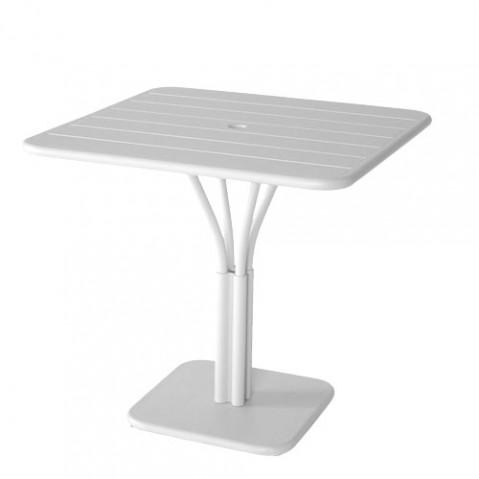 table carree luxembourg 80x80 cm blanc coton de fermob