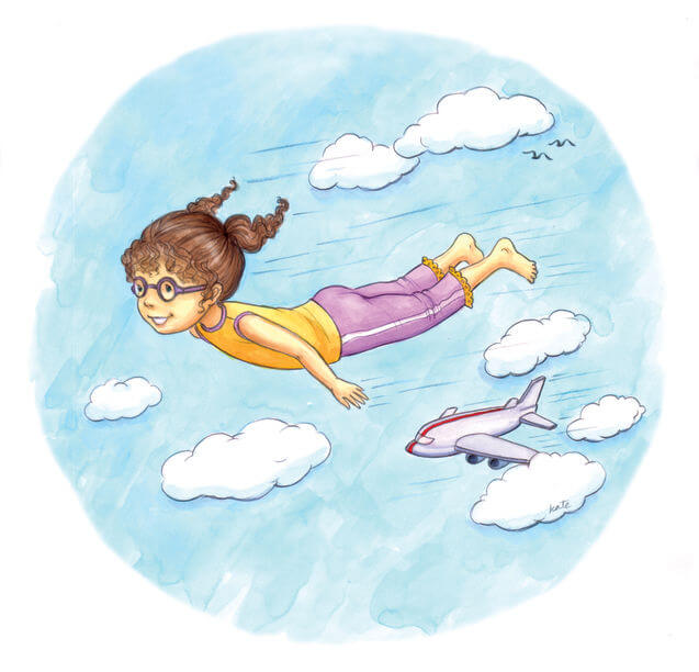 Yoga for children: airplane
