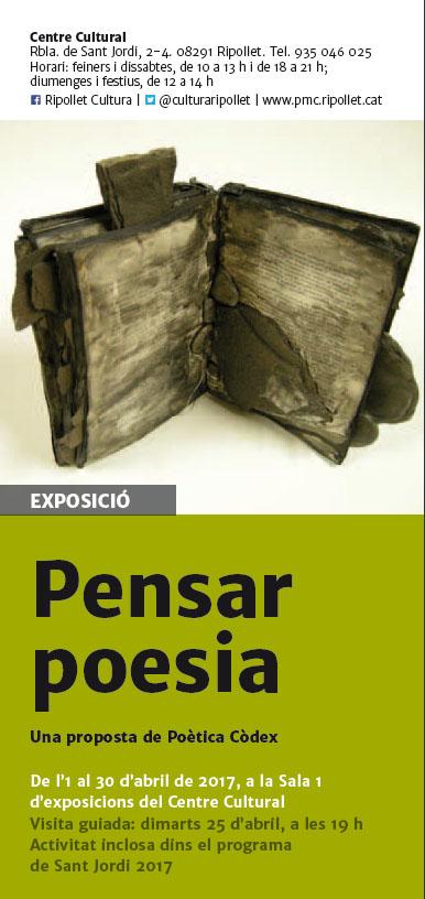 Cartell de l'exposició Pensar Poesia