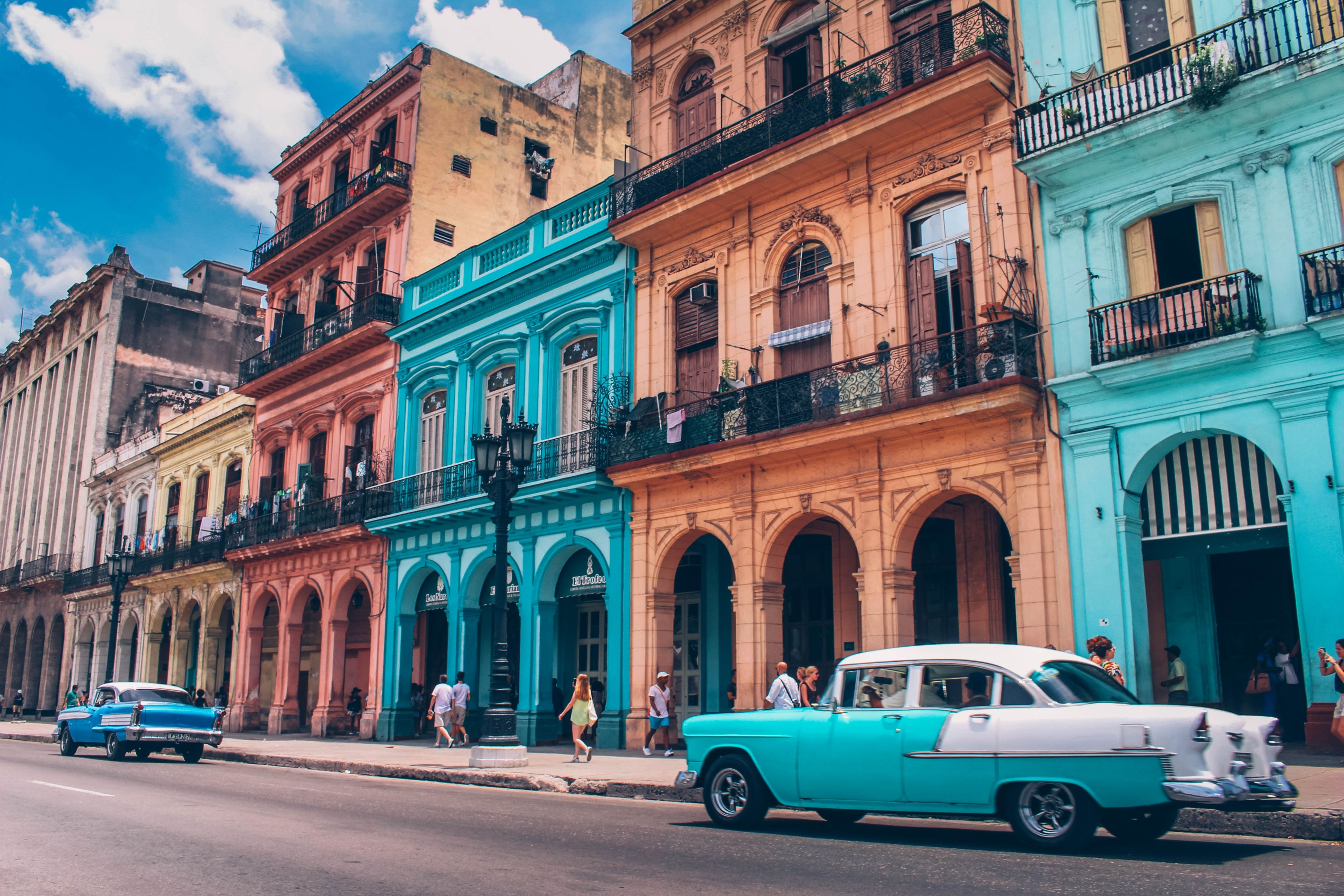 Best Hd Wallpapers 1366x768 Wallpaper Of Havana Architecture Street Desktop Picture