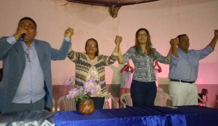 Sapão anuncia a chapa Joana e Michelle (Foto: Divulgação)