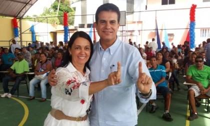 Gracinha Viana e o deputado estadual Eduardo Sales (Foto: Divulgação)