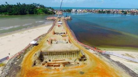 Ponte estaiada em Ilhéus deve ser entregue em 2018 (Foto: Divulgação)