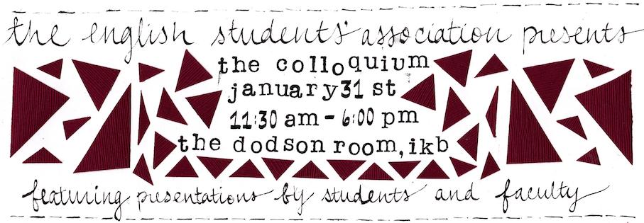 UBC English Students' Association The Colloquium