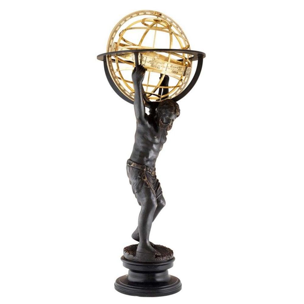 atlas with globe statue