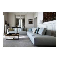 Large Corner Sofa In Small Living Room Grey And White Brown Le Nuvole Pouf By Swan Italia Uber Interiors