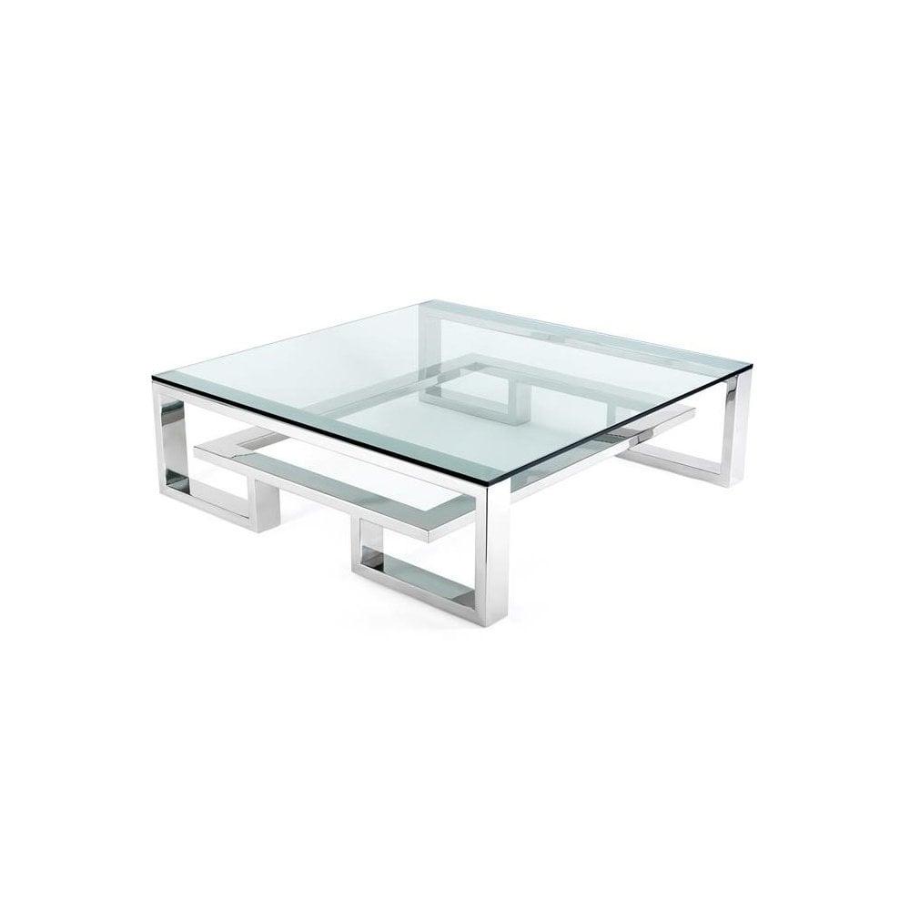 brooklyn large steel coffee table by