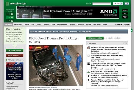 Screenshot newsvine