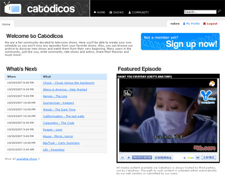 Catodicos Series de TV