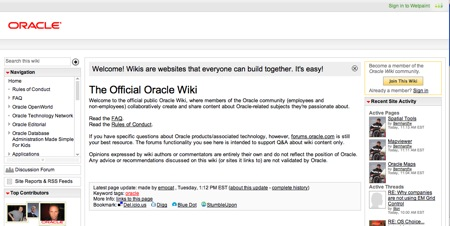 wiki de oracle