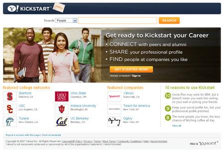 Yahoo Kickstart para encontrar empleo online