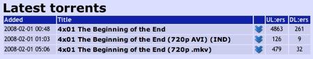 Lista de torrents de la cuarta temporada de Lost