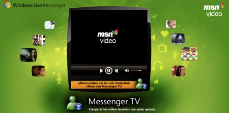 Messenger TV videos compartidos