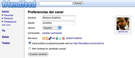 friendfeed-espanol FriendFeed con versión en Español