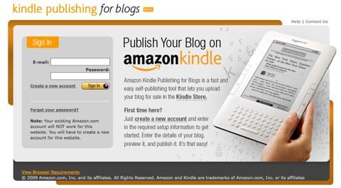 kindle con blogs