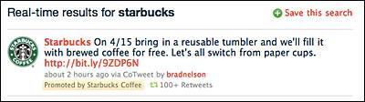 starbucks tweet promocionado