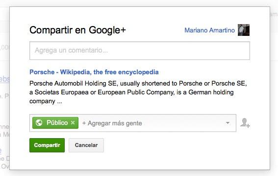 como compartir en Google Plus